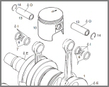ROTAX 447 SERIES - EXPLODED DIAGRAMS FROM PARTS LIST
