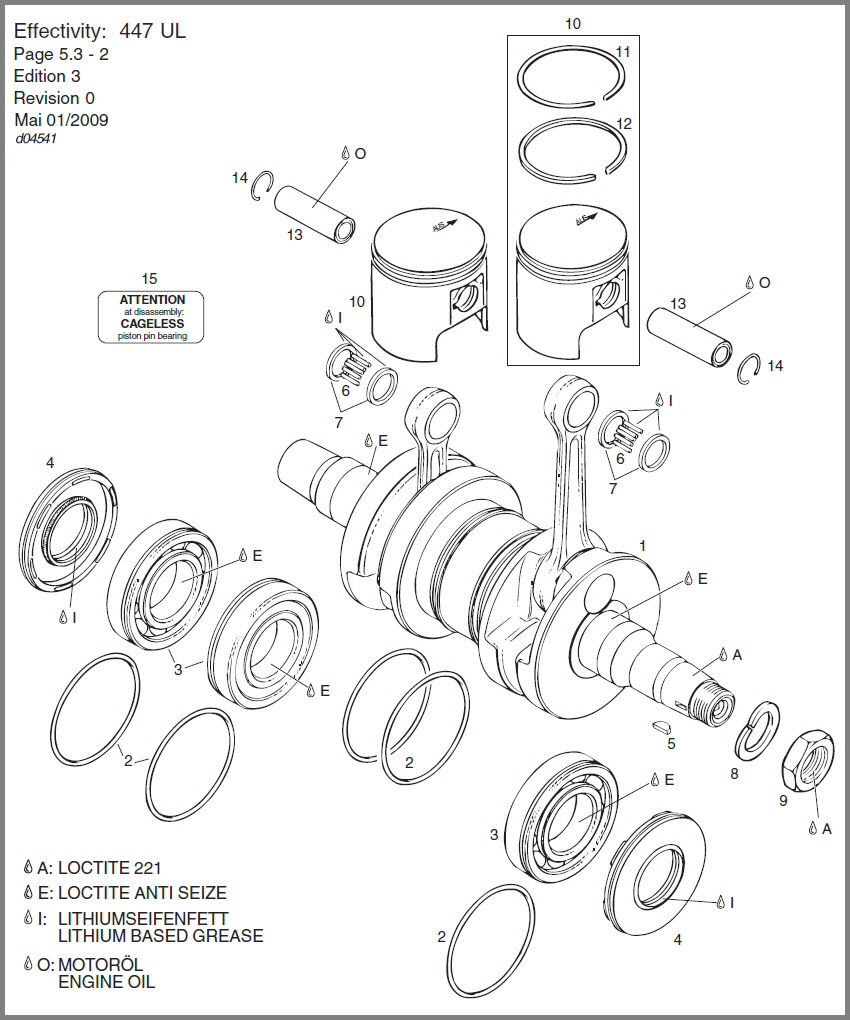 Skydrive Products Rotax 912 Wiring Diagram 447 Crankshaft Piston