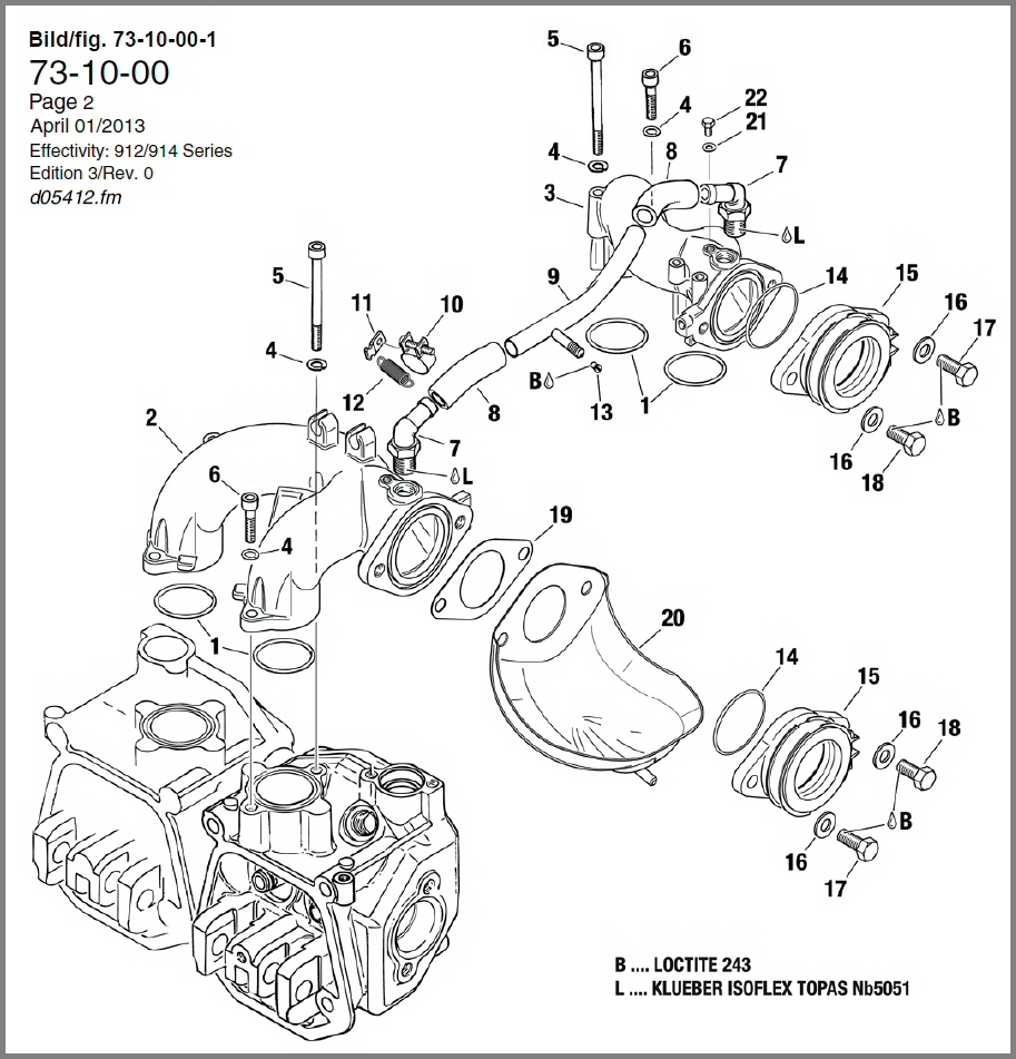 Skydrive Products Rotax 447 Wiring Diagram 912 914 Intake Manifold Compensating Tube Assy