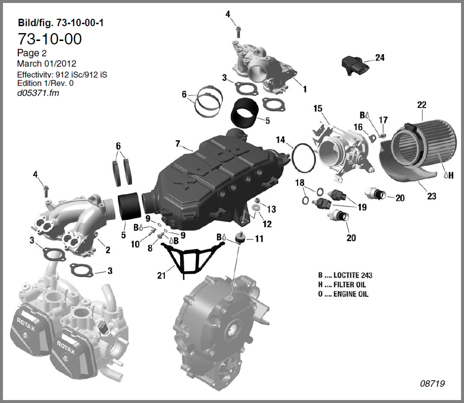 skydrive products912is intake manifold, airbox, throttle valve socket diagram