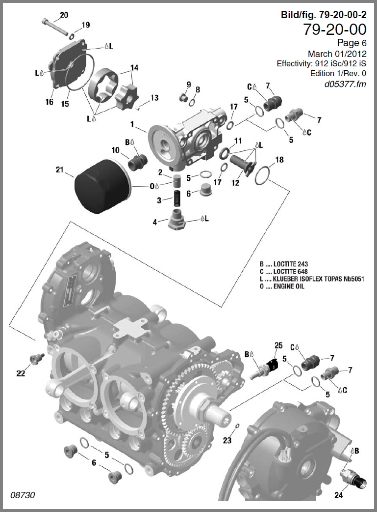 Skydrive Products Rotax Engine Diagram 912is Oil Pump Assy Filter Temp Sensor Pressure