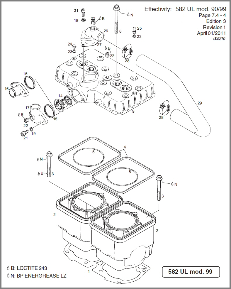 4 Cylinder Head Diagram