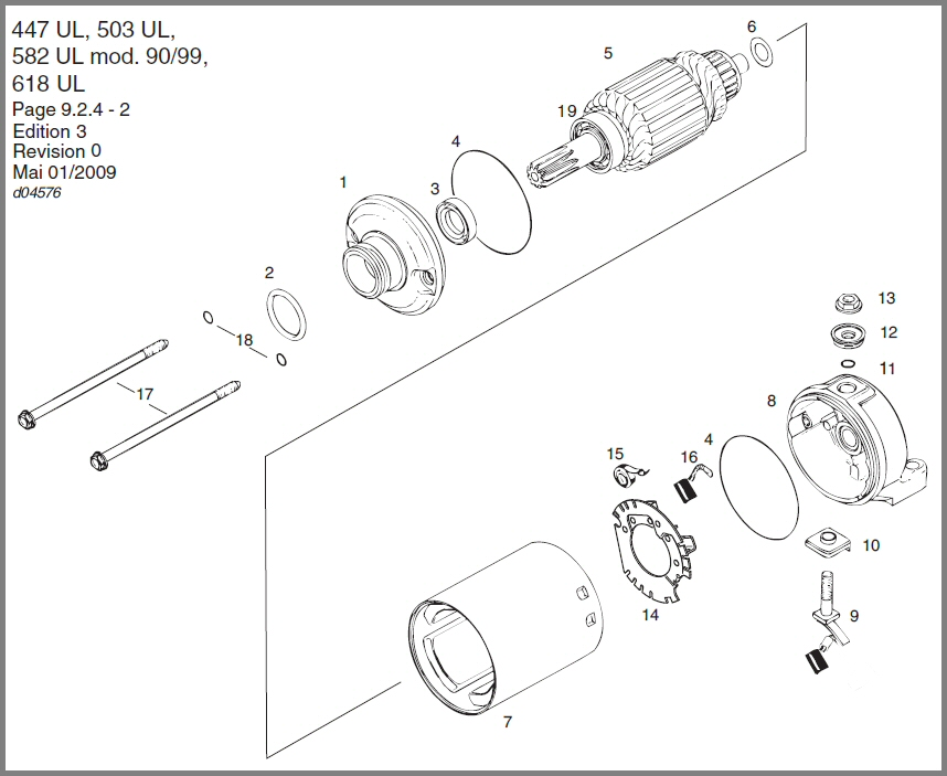 SKYDRIVE Products – Rotax Engine Parts List Diagram
