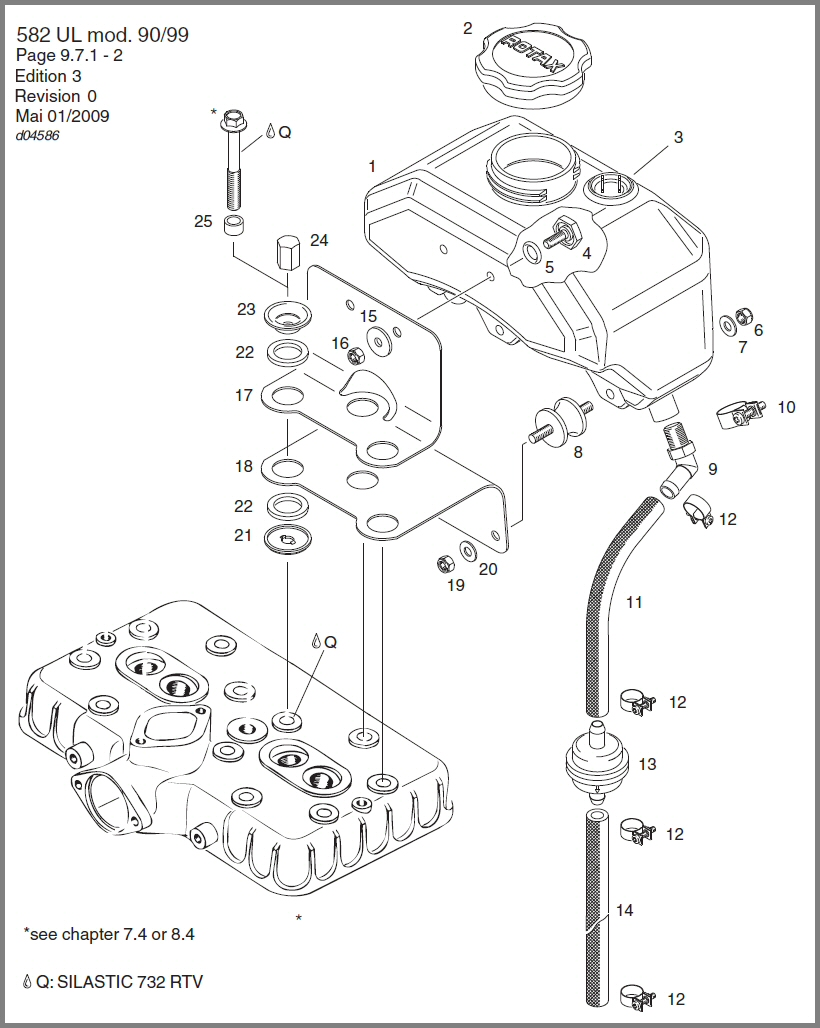 Skydrive Products Wiring Diagram Rotax 447 582 Oil Tank Assy