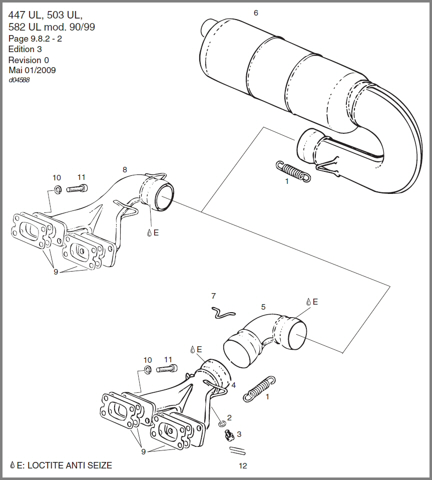 Skydrive Products Rotax 447 Wiring Diagram 583 582 Exhaust System Configuration Sidemount